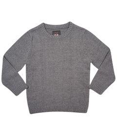 Blusa-Infantil---Tricot---Cinza-Mescla---Tip-Top---1T