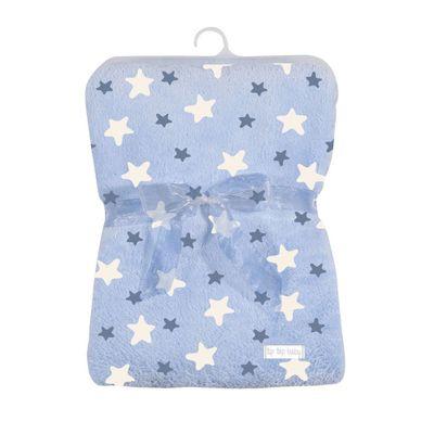 Cobertor-de-Poliester---80x110-Cm---Estrelinhas---Azul---Tip-Top---UNICO