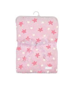 Cobertor-de-Poliester---80x110-Cm---Estrelinhas---Rosa---Tip-Top---UNICO