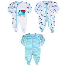 Conjuto-de-Macacoes-Baby---3-Pecas-Estampadas---Azul---Tip-Top---M