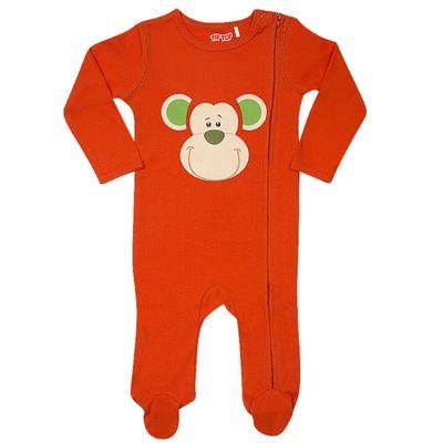 Pijama-Baby---Macacao-Manga-Longa---Monkey---Laranja---Tip-Top---G