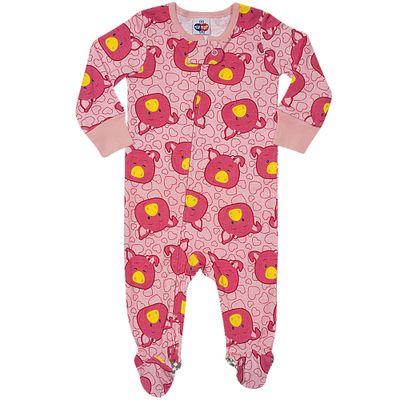 Pijama-Macacao-Baby---Meninas---Estampado---Pig---Rosa-Claro---Tip-Top---1T