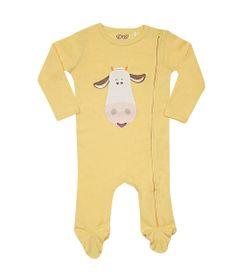 Pijama-Baby---Macacao-Manga-Longa---Cow---Amarelo---Tip-Top---P