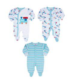 Conjuto-de-Macacoes-Baby---3-Pecas-Estampadas---Azul---Tip-Top---P