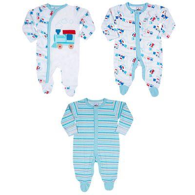 Conjuto-de-Macacoes-Baby---3-Pecas-Estampadas---Azul---Tip-Top---RN