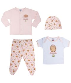 Conjunto-Baby---Meninas---Calca-2-Camisas-e-Touca---Rosa---Tip-Top---P