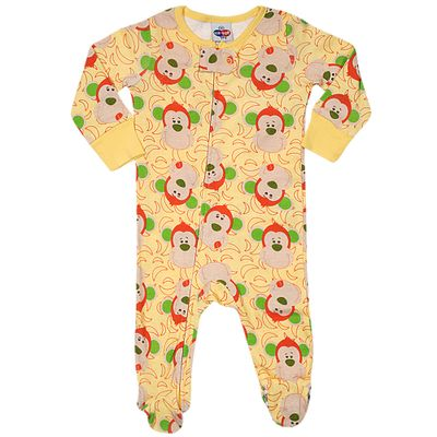 Pijama-Macacao-Baby---Meninos---Estampado---Monkey---Amarelo---Tip-Top---2T