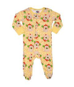 Pijama-Macacao-Baby---Meninos---Estampado---Monkey---Amarelo---Tip-Top---3T