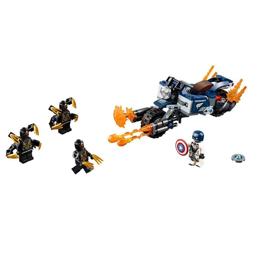 LEGO-Avengers---Disney---Marvel---Ultimato---Capitao-America-Vs-Outrider---76123