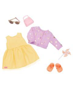 Acessorios-Para-Bonecas---Our-Generation---Conjunto-Casaco-Estrelas-com-Vestido-Amarelo
