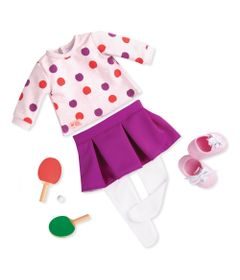 Acessorios-Para-Bonecas---Our-Generation---Conjunto-Roupas-de-Ping-Pong