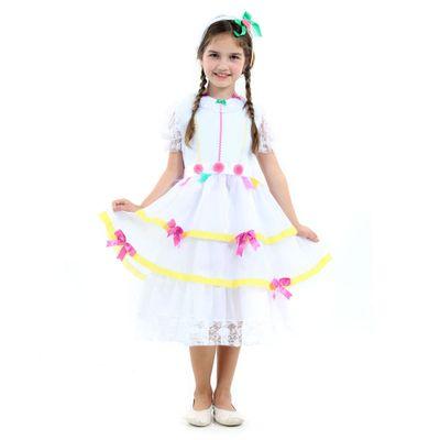 Fantasia-Infantil---Noiva-Caipira-Luxo---Festa-Junina---Sulamericana---P