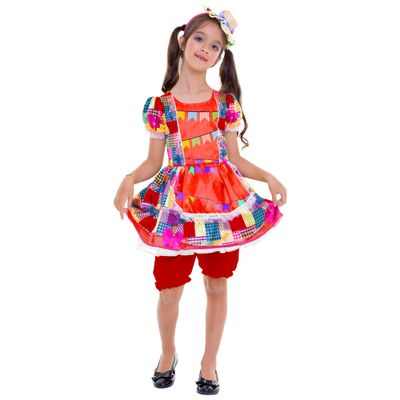 Fantasia-Infantil---Vestido-Bandeirinhas---Festa-Junina---Global-Fantasias---P
