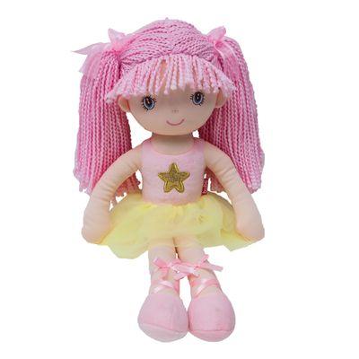 Boneca-de-Pano---Bailarina-Sweet---Rosa-Claro---Buba