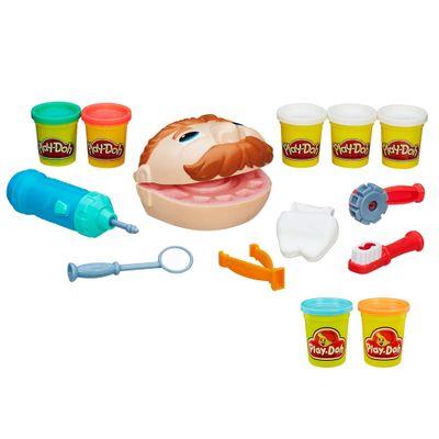 100168735-Kit-Massa-de-Modelar-Play-Doh-Dentista-e-Pack-com-2-Potes-Turquesa-e-Laranja-Hasbro