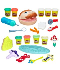 100168736-Kit-Massa-de-Modelar-Play-Doh-Dentista-e-Casamento-Fundo-do-Mar-Ariel-Hasbro