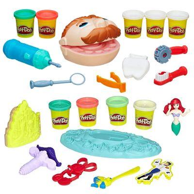 100168736-Kit-Massa-de-Modelar-Play-Doh-Dentista-e-Casamento-Fundo-do-Mar-Ariel-Hasbro