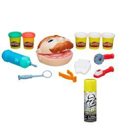 100168738-Kit-Massa-de-Modelar-Play-Doh-Dentista-e-Refil-Nerf-Fluido-de-Dardo-Nerf-Zombie-Abolisher-Hasbro