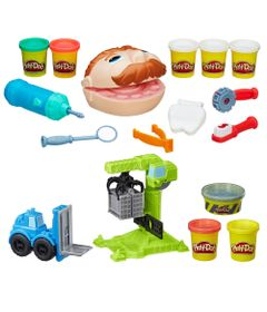 100168737-Kit-Massa-de-Modelar-Play-Doh-Dentista-e-Wheels-Guindaste-e-Empilhadeira-Hasbro