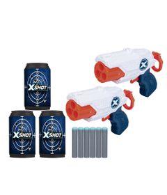 conjunto-de-lancadores-de-dardos-com-alvos-x-shot-micro-x3-double-branco-e-laranja-5514_Frente