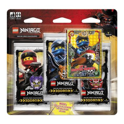 Jogo-de-Cartas---Blister-Triplo---LEGO-Ninjago---Masters-Of-Spinjitzu---Jay-Vs-Chopper-Mardon---Copag