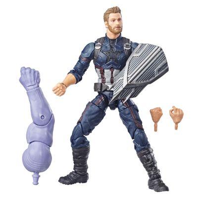 Figura-Articulada---26-Cm---Disney---Marvel---Avengers---Guerra-Infinita---Build-a-Figure---Capitao-America---Hasbro