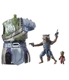 Figura-Articulada---26-Cm---Disney---Marvel---Guardioes-da-Galaxia-Vol.-2---Build-a-Figure---Rocket-e-Groot---Hasbro