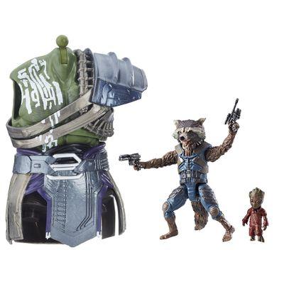 Figura-Articulada---26-Cm---Disney---Marvel---Guardioes-da-Galaxia-Vol.-2---Build-a-Figure---Rocket-e-Groot---Hasbro