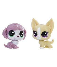 Mini-Figura---Littlest-Pet-Shop---Serie-1---Chunky-Waterluff-e-Mayor-Perrito---Hasbro_Frente