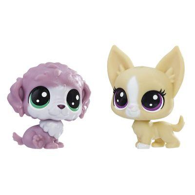 Mini-Figura---Littlest-Pet-Shop---Serie-1---Chunky-Waterluff-e-Mayor-Perrito---Hasbro_Frente