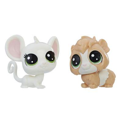 Mini-Figura---Littlest-Pet-Shop---Serie-1---Zoe-Housemouse-e-Guinsey-Pigson---Hasbro_Frente