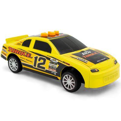 Mini-Veiculo-com-Luz---8Cm---Muscle-Racer---Aperta-e-Vai---Amarelo---Toyng_Frente