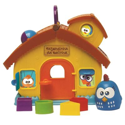 Playset-e-Mini-Figuras---Galinha-Pintadinha---Fazendinha-da-Galinha-Pintadinha---Elka