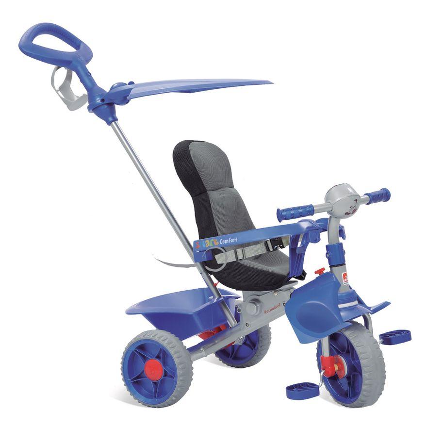 Triciclo-de-Passeio-Smart-Comfort---Azul---Bandeirante_Frente