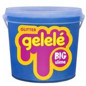Balde-de-Slime---15-Kg---Big-Gelele-Glitter---Azul---Doce-Brinquedo