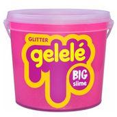 Balde-de-Slime---15-Kg---Big-Gelele-Glitter---Rosa---Doce-Brinquedo