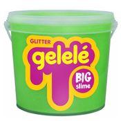 Balde-de-Slime---15-Kg---Big-Gelele-Glitter---Verde---Doce-Brinquedo