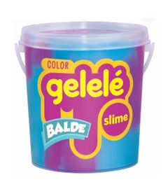 Balde-de-Slime---457-Gr---Gelele-Color---Slaime---Azul-e-Roxo---Doce-Brinquedo