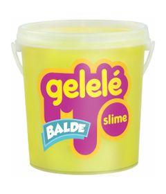Balde-de-Slime---457-Gr---Gelele---Cores-Tradicionais---Amarelo---Doce-Brinquedo
