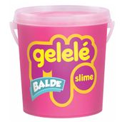 Balde-de-Slime---457-Gr---Gelele---Cores-Tradicionais---Rosa---Doce-Brinquedo