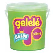 Balde-de-Slime---457-Gr---Gelele---Cores-Tradicionais---Verde---Doce-Brinquedo