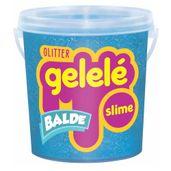 Balde-de-Slime---457-Gr---Gelele-Glitter---Azul---Doce-Brinquedo