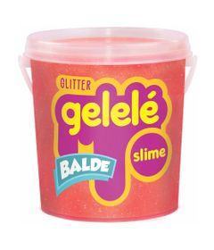 Balde-de-Slime---457-Gr---Gelele-Glitter---Laranja---Doce-Brinquedo