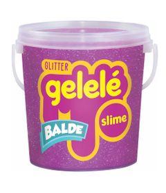Balde-de-Slime---457-Gr---Gelele-Glitter---Pink---Doce-Brinquedo