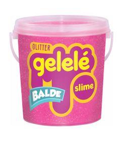 Balde-de-Slime---457-Gr---Gelele-Glitter---Rosa---Doce-Brinquedo