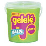 Balde-de-Slime---457-Gr---Gelele-Glitter---Verde---Doce-Brinquedo
