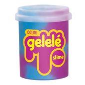 Pote-de-Slime---152-Gr---Gelele-Color---Slaime---Azul-e-Roxo---Doce-Brinquedo