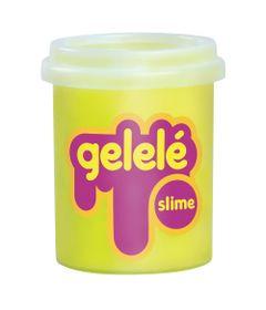 Pote-de-Slime---152-Gr---Gelele---Cores-Tradicionais---Amarelo---Doce-Brinquedo