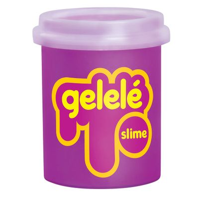 Pote-de-Slime---152-Gr---Gelele---Cores-Tradicionais---Pink---Doce-Brinquedo