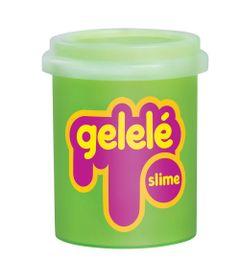 Pote-de-Slime---152-Gr---Gelele---Cores-Tradicionais---Verde---Doce-Brinquedo